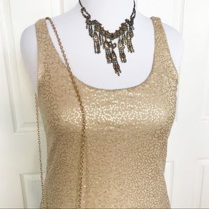 Talbots Gold Sequined Tank